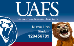 Example of a student ID, featuring Numa Lion
