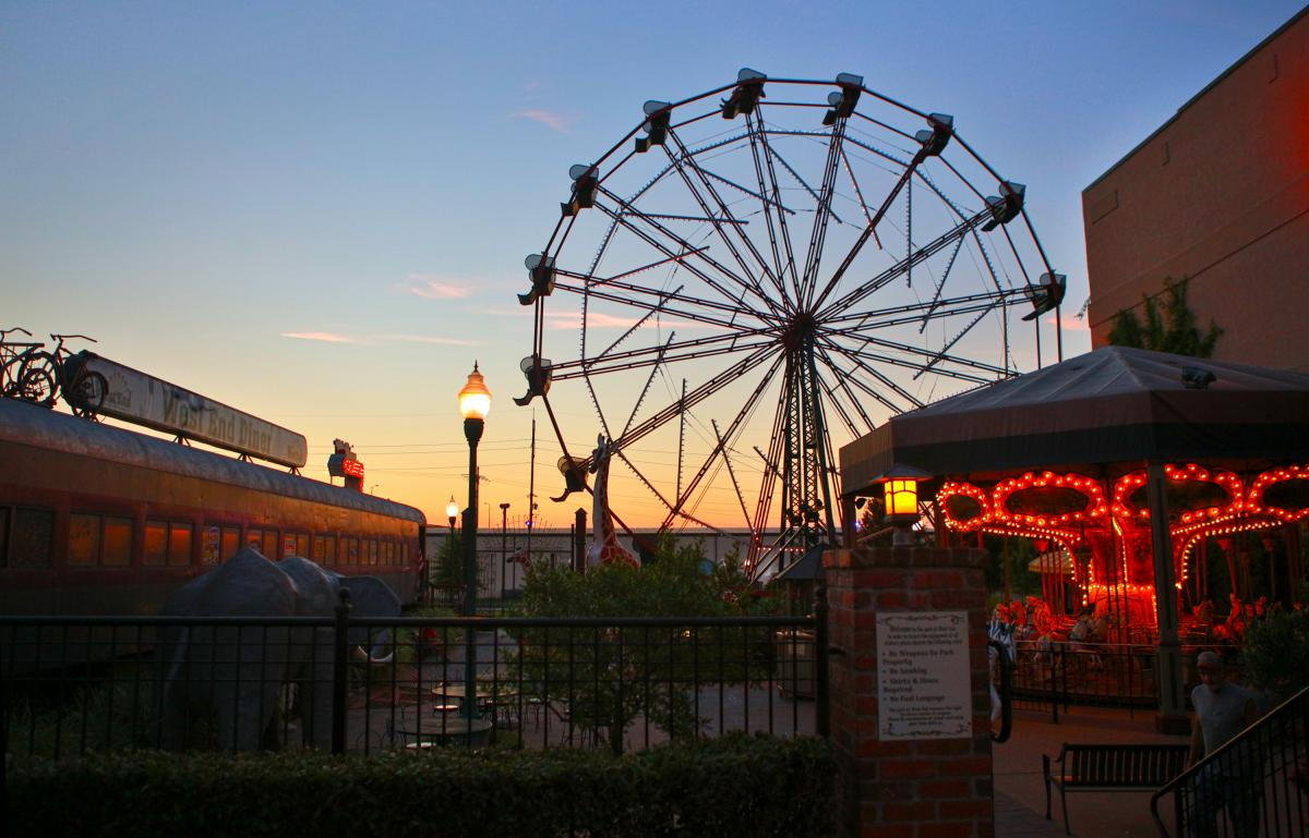 Ferris wheel in downtown Fort Smith