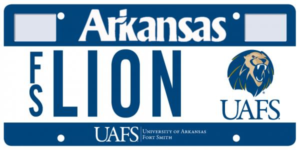 UAFS License plate