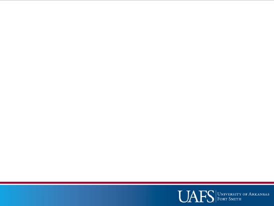 UAFS PowerPoint slide