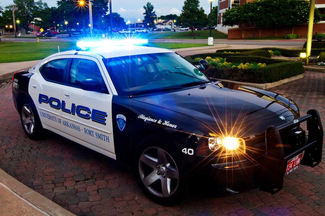 UPD Vehicle with blue lights on