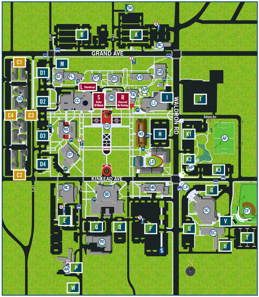 university of arkansas fort smith campus map Parking Lot Designations University Of Arkansas Fort Smith Uafs university of arkansas fort smith campus map